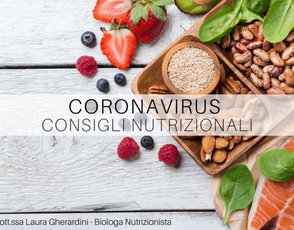 coronavirus consigli nutrizionali